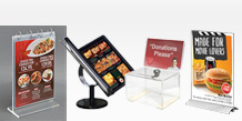 Acrylic Menu Displays