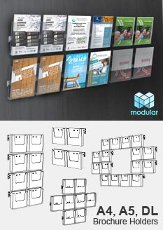 Brochure Holders Wall Mount