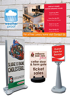 a boards sidewalk signs slimline warehouse
