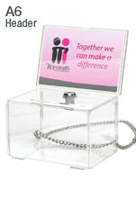 Lockable Collection Boxes with Chain