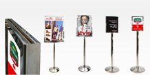 Stainless Steel Poster Stands
