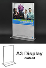 A3 Acrylic POS Sign Holder