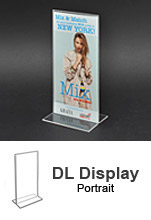 DL Acrylic POS Sign Holder