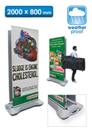 Outdoor Pull Up Banner