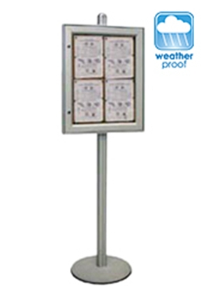Free Standing Notice Board Display