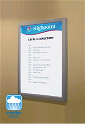 Oversized Lockable Outdoor Poster Frame