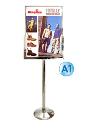 Poster Stand - A1 Free Standing Stainless Steel