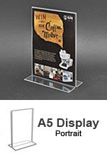 A5 Acrylic POS Sign Holder