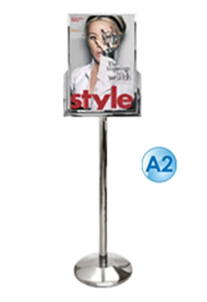 Poster Stand - A2 Free Standing Stainless Steel