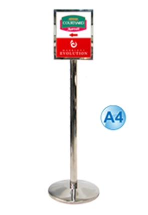 Poster Stand – A4 Free Standing Stainless Steel