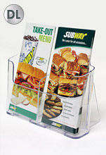 DL Acrylic Brochure Holder – Dual Pocket