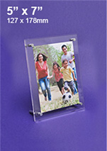 Clear Perspex Picture Frames