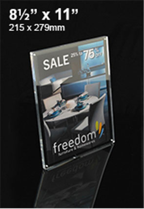 Perspex Signage Stand