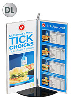 3 DL Pockets Tri Rotating Menu Holder