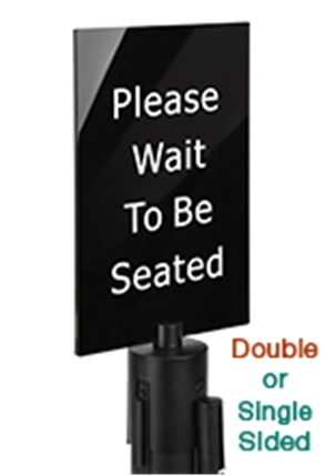 Stanchion Sign Holders