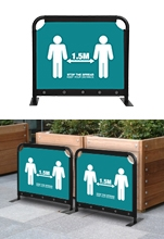 Cafe Screens with Printed Canvas