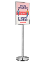 A2 Chrome Sign Stand