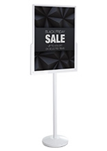 White Floor Sign Holder