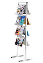 Double Sided Standing Brochure <br> Magazine Rack