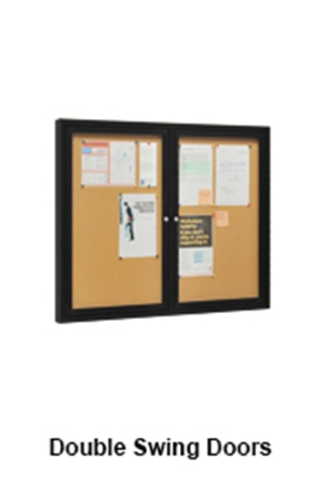 Notice Display Boards With Double Swing Doors