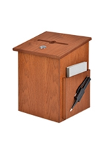 Wooden Ballot Box with Lock