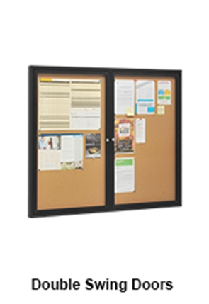 Announcement Board With Double Swing Doors