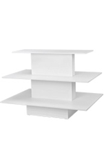White Retail Display Tables