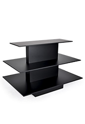 Black Retail Display Tables