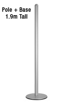 Display Pole - Silver
