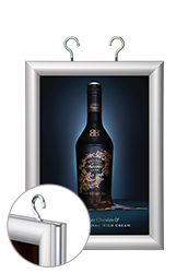 Double Sided Clip Frame Poster Holde - A4 Silver