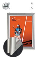 Double Sided Clip Frame Poster Holder - A4 Silver