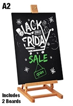 A2 Tabletop Chalkboard Stand