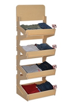 4 Tiered Wooden Display Stand