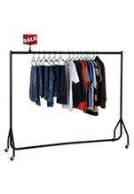 Single Rolling Clothes Rack