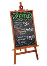 Display Easel with Chalkboard