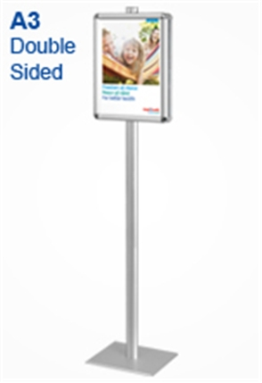 Sign Pole with A3 Snap Frames