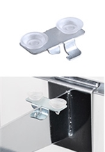 Slat Wall Bracket Suction Cups