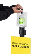 Hand Sanitising Dispenser for Barrier Posts