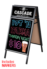 Wet Erase Double Sided A-Frame Sign