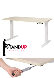 Height Adjustable Desk with Oak Top