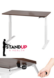 Adjustable Desks with Walnut Finish