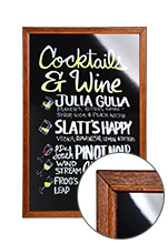 Liquid Chalk Board - Red Gum Finish