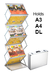 High Capacity Portable Brochure Holder