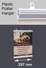 Plastic Poster Hangers - A4