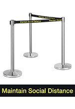 Social Distancing Barrier Posts