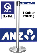 Retractable Printed Belt Stanchions