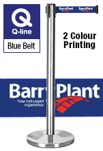 Stanchion Poles Printed Belt