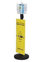 Stanchion Sanitizer Dispenser Stand