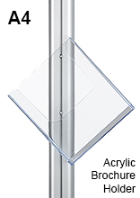 A4 Acrylic Brochure Holder Front Mount