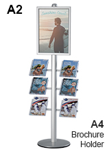 A2 Poster and Brochure Stand